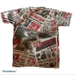 Guns N'Roses GN'R Lies Vintage Newsprint T-shirt